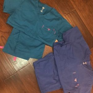 2 pairs MED Couture scrubs size XS